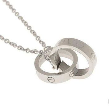 LMFUP0 Cartier Woman Fashion LOVE Plated Necklace For Best Gift