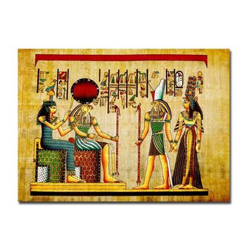Egypt Papyrus Pharaoh Character Wall Art Paint Wall Decor Canvas Prints Canvas Art Poster Oil Paintings for Living Room No Frame