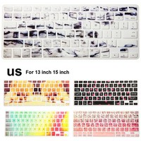 Landscape Pattern Silicone US keyboard Case Cover Protector for MacBook Air 13 inch Pro Retina 13 15 inch
