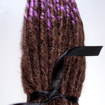 25 Single Ended SE Synthetic Dreads Dreadlock Set Transitional Ombre Fade Hair Extensions Braid