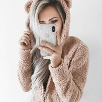 Fitted Teddy Bear Coat