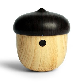 Cute Nut Shaped Outdoor Loudspeaker Rechargeable Mini Wooden Wireless Speaker Small Elegant Shape Can Put in Your Pocket