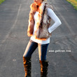 Brown And Ivory Two Tone Faux Fur Vest