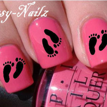 Footprints Nail Art Transfer