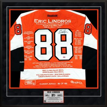 ERIC LINDROS CAREER JERSEY #88 OF 188 AUTOGRAPHED - PHILADELPHIA FLYERS