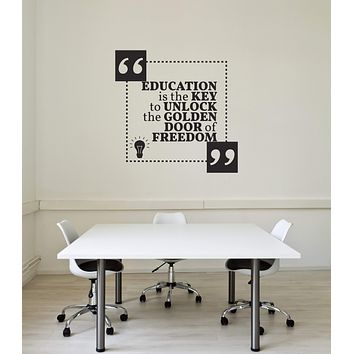 Vinyl Wall Decal Education Quote Science Class Lab School Saying Interior Stickers Mural (ig5844)