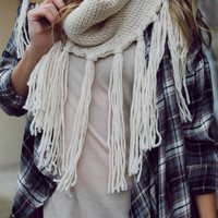 Cooler Days Ahead Infinity Scarf - Beige