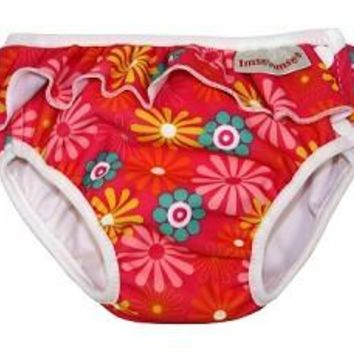 Pink Daisy Girls Swim Diaper
