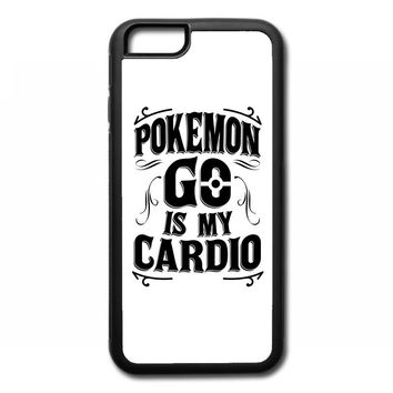 pokemon go is my cardio iPhone 6/6s Rubber Case