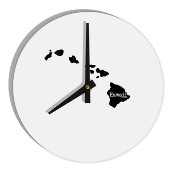 "Hawaii - United States Shape 8"" Round Wall Clock"