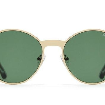 Quay Here We Are Gold Sunglasses / Green Lenses