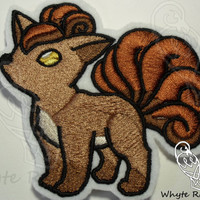 Embroidery Patches, Embroidery Patch, Vulpix Pokemon, Pokemon Patch