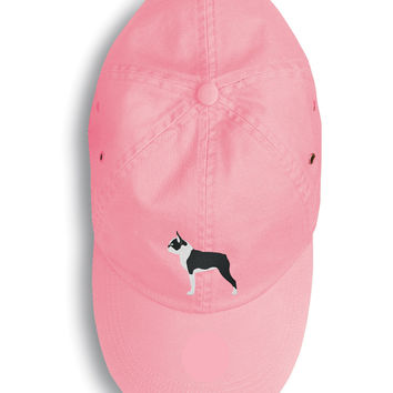 Boston Terrier Embroidered Baseball Cap BB3444PK-156