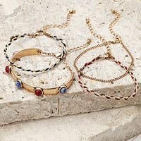 Braided and Chain Bracelet Set