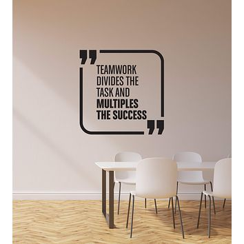 Vinyl Wall Decal Teamwork Quote Team Business Office Space Interior Stickers Mural (ig5866)