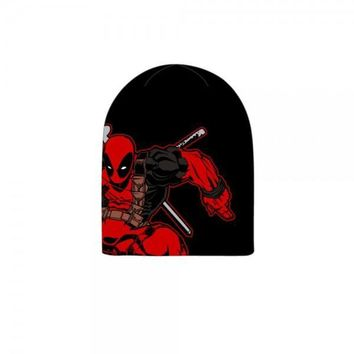 Deadpool Welt Knit Jacquard