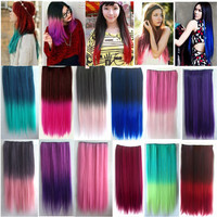 4 5 Clips Heat Resistant Fiber Synthetic Hair Extensions Straight T Color More Colors Womens High Temperature Hairpiece