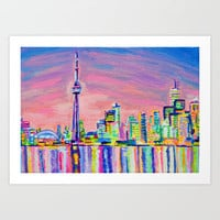 Toronto Skyline Art Print by Morgan Ralston