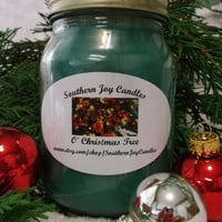 Scented Soy Candle O' Christmas Tree 16 oz jar