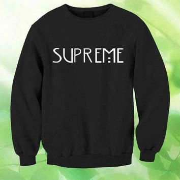 american horror story shirt supreme Jersey Style Unisex Sweatshirt Crewneck Men or Wom