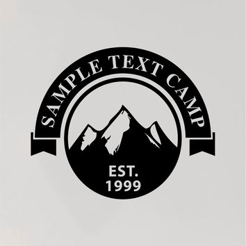 Camp Name Mountains RV Camper 5th Wheel Motor Home Vinyl Decal Sticker