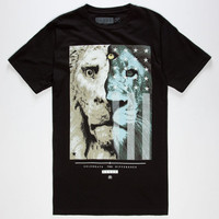 Civil 3 Eyed Lion Mens T-Shirt Black  In Sizes