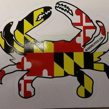 New MARYLAND FLAG VINYL STICKERS Variety  CRAB FLIP FLOPS SHORE LIFE