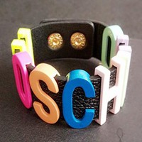 Moschino trend selling M brand color letter bracelet