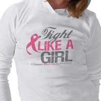 Fight Like A Girl Breast Cancer Awareness T-shirts from Zazzle.com