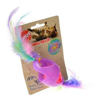 Spot Tie Dye Jingle Roller Cat Toy - Assorted Colors