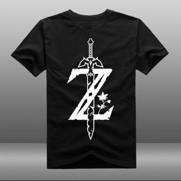 New The Legend of Zelda t-shirt Men tshirt reflect light Men t-shirt cotton Loose Short-sleeve Tees tops