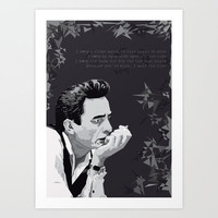 Johnny Cash Art Print by Iany Trisuzzi