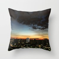 Home Town Throw Pillow by Li Zamperini Art