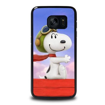 snoopy dog samsung galaxy s7 edge case cover  number 1