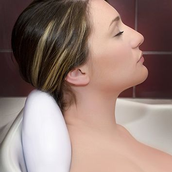 LUXURY Bath Pillow With Suction Cups ✮ Washable And Waterproof Pillows For Spa ✮ Jacuzzi ✮ Bathtub ✮ Firm Headrest For Neck ✮ Great Gifts For Mothers...