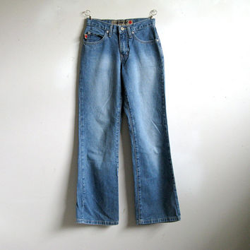 Edwin Vintage 1980s Jeans Cotton Blue Denim Grunge 5 Pocket Mens Jeans 25 L-30