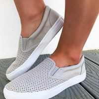 Clear To Me Sneakers: Stone