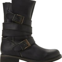 STEVE MADDEN - Kindell leather biker boots | Selfridges.com
