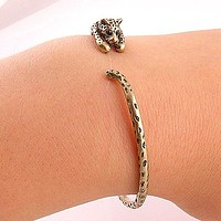 Animal Wrap Bracelet Bronze Leopard