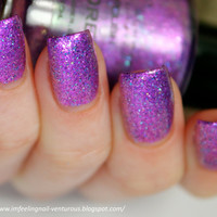 Lilac Dreams Nail Polish - Purple Pink Glitter Nail Polish Custom Blend - 0.5 oz Full Sized Bottle