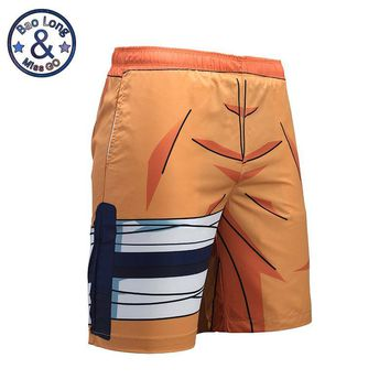 Naruto Sasauke ninja Mr.BaoLong Quick Dry Thin Double-deck Cartoon Dragon Ball Z Uzumaki  3D Full Printing Mesh Summer Anime Beach Shorts AT_81_8