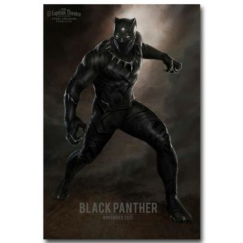 NICOLESHENTING BLACK panther - Captain America Civil War NEW Art Silk Poster Canvas Print Movie Pictures for Wall Decor 057