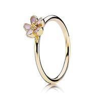 PANDORA Gold Cherry Blossom Ring - Size 8.5