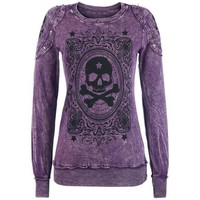 Women Autumn Winter Style Hoodie Sweatershirt Long Sleeve O-Neck Skull Printed Ladies Clothes Casual Sweatershirt