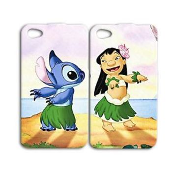 Funny Disney Lilo and Stitch Cute Phone Case iPhone 4 4s 5 5c 5s 6 6s Plus iPod