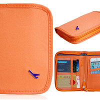 Multifunctional Passport Holder Bag Handbag (Orange)