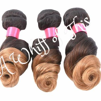Loose Wave Ombre Human Hair Bundle