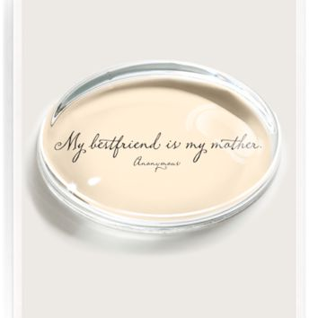 My Best Friend Is My Mother Crystal Oval Paperweight