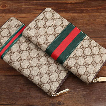 Fashion Women Man Leather Purse Wallet GD