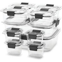 Rubbermaid Brilliance 22-Piece Food Storage Container Set Clear